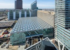 Benthem Crouwel's station for The Hague has patterned glass roof