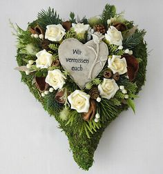 Cemetery Decorations, Table Decorations, Ivory Roses, Grapevine Wreath, Grape Vines, Floral Arrangements, Christmas Wreaths, Floral Wreath, Holiday Decor