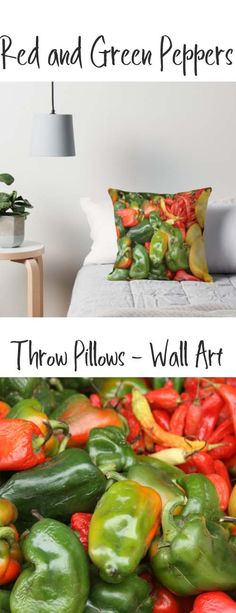 A throw pillow with Red and Green Peppers. Buy it here:https://www.redbubble.com/people/rhamm/works/10858506-peppers-at-the-otavalo-market?asc=u&grid_pos=317&p=throw-pillow&rbs=50b16a24-b474-48fd-aac0-845e160a8d2f&ref=artist_shop_grid