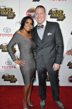 Comedian Gary Owen and wife, Kenya Duke at the Soul Train Awards