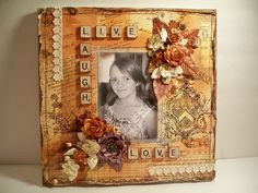 Scrabble Tile Art, Scrapbook Layouts, Scrapbooking, Mixed Media, Quilts, Frame, Kids, Crafts, Inspiration