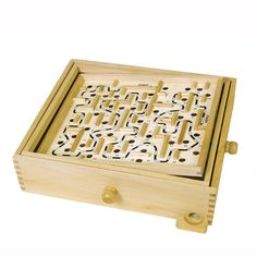 This Classic Wood Labyrinth game makes a perfect gift!