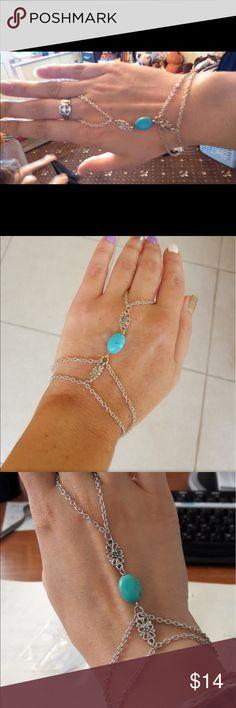 Hollow Flower Multi Chain Tassel Bracelet Bangle Hollow Flower Multi Chain Tassel Bracelet Bangle Slave Finger Chain Hand Harness Jewelry Jewelry Bracelets