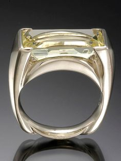 Skylight Jewelers, Faceted beryl crystal set in 14k white gold