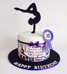 Gymnastics - Kylie Marks Cakes Gymnastics Birthday Cakes, Gymnastics Party, Beautiful Cakes, Amazing Cakes, Gym Cake, Dance Cakes, Decoration Patisserie, Fantasy Cake, Ballerina Cakes