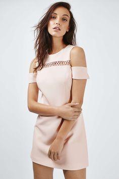 PETITE Cold Shoulder Loop Dress