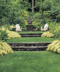 terraced yard landscape ideas - Google Search                                                                                                                                                                                 More