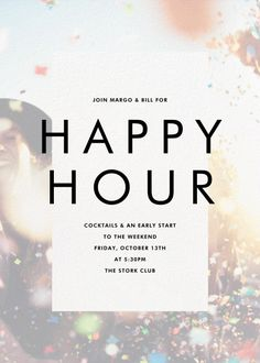 Happy Hour Invite For Coworkers : happy, invite, coworkers, Happy, Invite, Ideas, Paperless, Post,, Invitations,