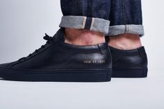 Men's Shoes, Dress Shoes, Common Projects, Head To Toe, Shoe Game, All Black Sneakers, Louis Vuitton, How To Wear, York
