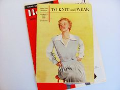 Knitting Instruction Booklet 1950 Woman's Day 96 Pgs. Designs for Women's Dresses Jackets Sweaters Blouses Accessories Children Babies Men