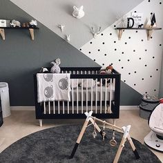 [ G R E Y ] Loving this grey toned nursery. Beautifully put together! ~Credit @ashleyyheather #evedeso #eventdesignsource - posted by The Curious Panda  https://www.instagram.com/thecuriouspanda.co. See more Baby Shower Designs at http://Evedeso.com