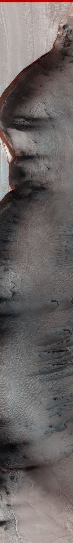 NASA/JPL/University of Arizona MARS North Polar Scarp in Abalos Undae with Basal Exposure and Dunes