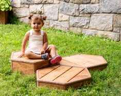 the new Starter Platform Set from Community Playthings is the perfect challenge for older infants Toddler Climbing, Outdoor Playset, Sensory Wall, New Starter, Infants, Toddler Activities, Wood Watch, Sink, Challenges