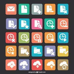 Free flat icons download