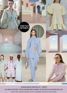 Spring Summer Trends, Spring Fashion Trends, Fashion Colours, Colorful Fashion, Jacquemus, Fashion Forecasting, Chalk Pastels, Max Mara, Fashion Sketches