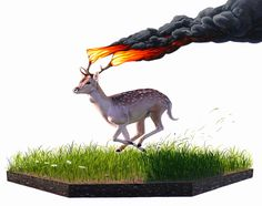 PHOTOREALISTIC ECO-SURREALIST ANIMAL PAINTINGS by Josh Keyes