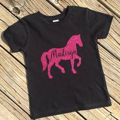 Custom name horse girls tee child horse by PerfectlyUnperfectCo