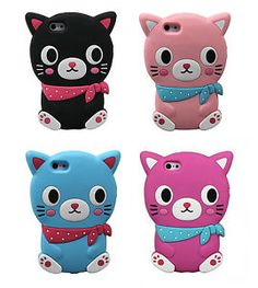 Cartoon-Animals-Silicone-Rubber-Gel-Tpu-Case-Cover-Skin-For-iPhone-4-5-5c-6-6s