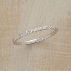 MARRY-ME MICRO DIAMOND BAND--Micro-pavé jewels set in this 18kt white gold diamond band convey romantic intentions. Handmade in USA by Suzanne Kalan. Whole sizes 5 to 8.