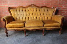 Vintage French Prov Louis XIV Decorative Ornate French Boho Chic Armchair Sofa   eBay