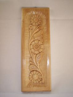 Items similar to Wood Carved Wall Decor Piece with flower motif on Etsy : Potential essential oil plate Wood Carving Designs, Wood Carving Patterns, Wood Carving Art, Wood Patterns, Front Door Design Wood, Wooden Door Design, Carved Wood Wall Art, Wood Art, Craft Wood Pieces