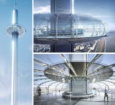 A glass balcony on the Willis Tower, a vertigo-inducing overlook in Norway and 11 other towering platforms and observation decks offer views unlike any other. Giza Egypt, Glass Balcony, Rooftop Lounge, Lounge Design, Light Camera, Brighton And Hove, Sky High, Study Abroad, Willis Tower