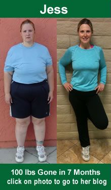 100lbs lost with raw food.