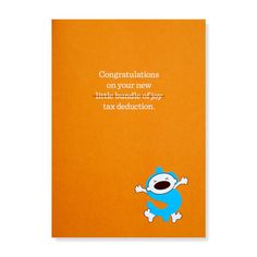 Congratulations on Your New Tax Deduction! (Greeting Card)