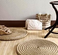 Make a DIY Round Rope Mat or Rug -Depending on how Ambitious You Are