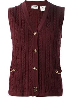 directly from A.N.G.E.L.O Vintage Boutique: Celine cable knit gilet