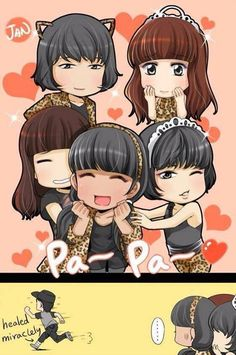 Vixx VIXX Family  N Leo Ravi Hongbin Hyuk  Wondergirls act fan art
