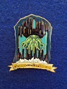 Disney DLR Pirates of the Caribbean Attraction Davy Jones Trading Pin on Pin #disney #disneyland #disneytradingpin #pin #pins #davyjones #pirates #piratesofthecaribbean #pirate #glowinthedark #collectible #pinonpin