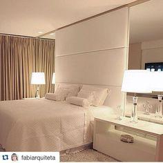 TKS QUERIDA @fabiarquiteta #Repost @fabiarquiteta with @repostapp. ・・・ Quarto l Cabeceira estofada com espelhos laterais, já virou um clássico que amamos!! Projeto @valdeteduarte #bedroom #home #homedecor #arquiteta #design #lamp #instahome #arquitetura #decoração #decoration #cool #photooftheday #decoracion #luxuryhomes #luxurydesign #blogfabiarquiteta #fabiarquiteta http://www.fabiarquiteta.com