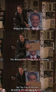 Marshall explains why The Captain is creepy on HIMYM. Click on for more funny quotes and stuff from the show.