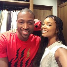 Pin for Later: All of Gabrielle Union and Dwyane Wade's Slam-Dunk Relationship Snaps  Gabrielle celebrated her 43rd birthday with Dwyane in October 2015.