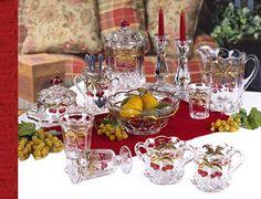 Mosser Glass, Inc. -cherry thumbprint Has on-line catalog of their glassware. Love the cherry thumbprint pattern.