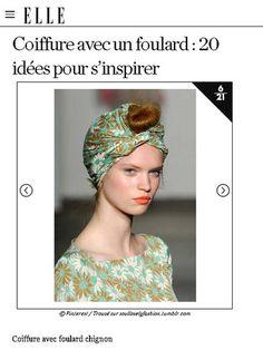 【ELLE】アイデア 5|速攻でトレンド感アップ! スカーフを使ったヘアアレンジアイデア20|エル・オンライン