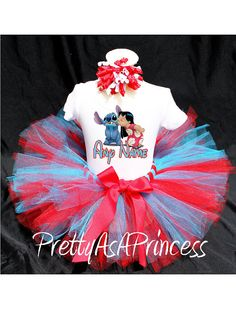 Lilo and Stitch Tutu Birthday Outfit Costume by PrettyAsAPrincess2, $24.99