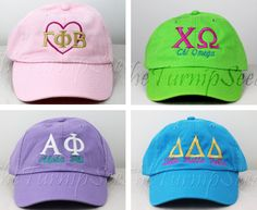 dear santa… cute & classy sorority caps for big/little please!! {and only $12 too!} ☆ savvy sorority elves shop at THE TURNIP SEED:  http://www.etsy.com/shop/TheTurnipSeed