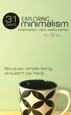 Minimalism challenges what you thought you knew about what you wanted in life. Minimalism is about having the space and freedom in your life for what really matters. | inspiration, tips, baby steps - because simple living shouldn't be hard simplify life, how to simplify life, #simplicity