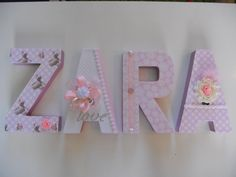 Papier mache decorated letters by Deerlightful Decor