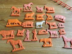 Lovely farm animal set  soviet toys  horses pigs dogs by RETROisIN