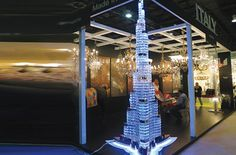 Burj Khalifa chandelier, a 1:200 scale model of the world's tallest building, is up for sale