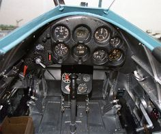 Boeing P-26 Peashooter Cockpit Picture.