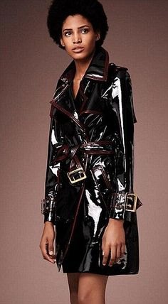 Burberry coated trench - contemporary revisitation of Mary Quant's coat.
