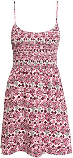 H&M - Patterned Dress - Natural white/red - Ladies