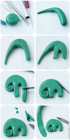 picture tute - elephant ~ Polymer Clay Tutorials