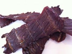 Paleo beef jerky made with Coconut Aminos...So easy to do...I also add some finely grated dried onions & garlic.
