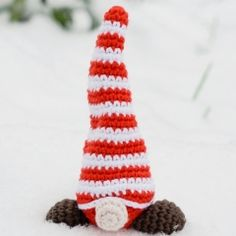 Shy Christmas gnome amigurumi pattern by Marika Uustare Amigurumi Doll, Amigurumi Patterns, Christmas Gnome, Christmas Ornaments, Gnomes, Dolls, Holiday Decor, Baby Dolls, Christmas Jewelry