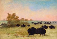 Buffalo by George Catlin   Catlin and Party Stalking Buffalo, Upper Missouri by George Catlin